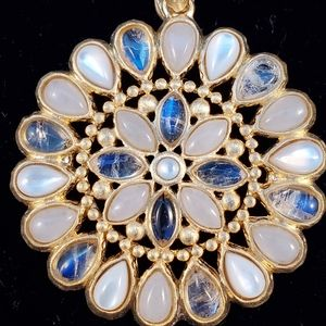 Jewelry - Pendant Sterling gold over with Rainbow Moonstone